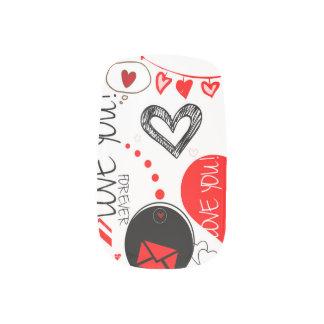 Minx-Nagel-Kunst, Single-Entwurf pro Hand Minx Nagelkunst