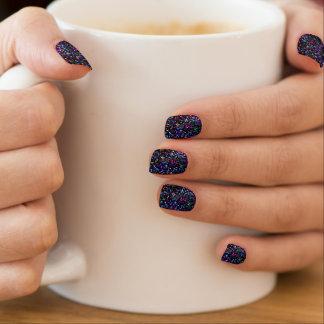 Minx nagelt Mosaik-Glitzer-Beschaffenheit Minx Nagelkunst