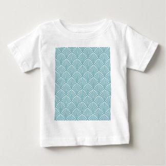 Minze, Creme, Kunst-Deko, Kunst nouveau, Vintag, Baby T-shirt