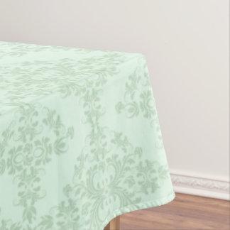 Minze-Grüne Blumendamaste Tischdecke