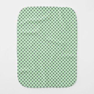 Minzen-Grün mit grauen Tupfen durch Shirley Taylor Baby Spucktuch
