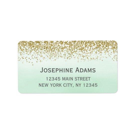Minzen-und Goldadressen-Etiketten Adressetikett