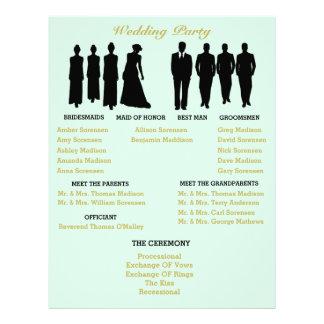 Minzen-und Goldherz-Polka-Punkt-Hochzeits-Flyer Flyer