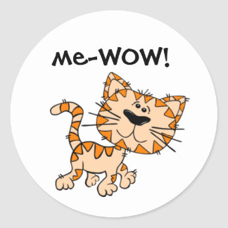 Mir-WOW, Meow, guter Job, wow! Niedliche Runder Aufkleber