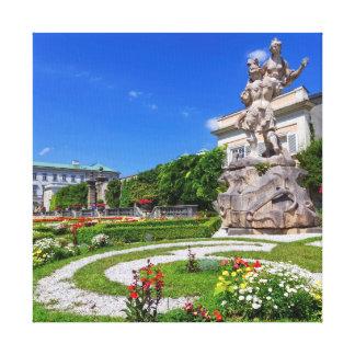 Mirabell Palast und Gärten, Salzburg, Österreich Leinwanddruck
