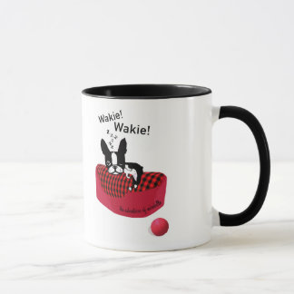 Mirabelle der Boston-Terrier Wakie! Wakie Tasse