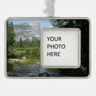 Mirror See-Ansicht in Yosemite Nationalpark Rahmen-Ornament Silber