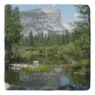 Mirror See-Ansicht in Yosemite Nationalpark Töpfeuntersetzer
