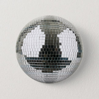 Mirrorball Disco-Ball Runder Button 5,7 Cm