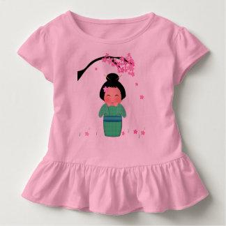 Misaki Kleinkind-Rüsche-T-Stück Kleinkind T-shirt