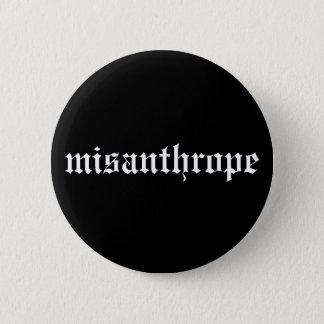 Misanthrope-Schwarzweiss-Knopf Runder Button 5,1 Cm