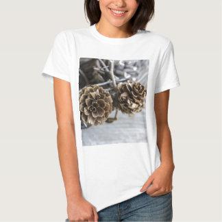 Miscellaneous - Winter Pine Cones Patterns Four Hemden