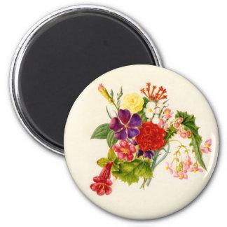 MischBlumen-Blumenstrauß Runder Magnet 5,1 Cm