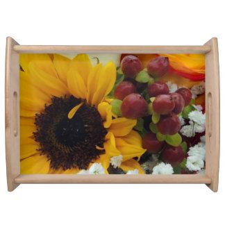MischBlumen-Blumenstrauß Serviertablett