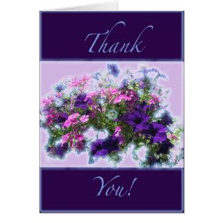 Mischblumen danken Ihnen Grußkarte