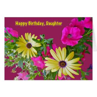 MischBlumen-Tochter-Geburtstags-Karte Grußkarte