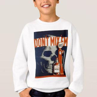 Mischen Sie Getränk nicht EM-Don't und fahren Sie Sweatshirt