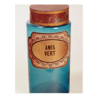 Mischen Sie Glas, mit Aufkleber für Anis Vert, Postkarte