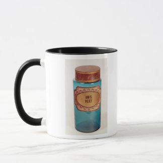 Mischen Sie Glas, mit Aufkleber für Anis Vert, Tasse