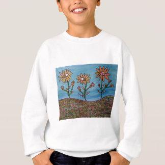 Mischmedium-Blumen-Feld Sweatshirt