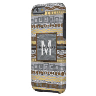Mischmetallmonogramm iphone6 industrielles Bling Tough iPhone 6 Hülle