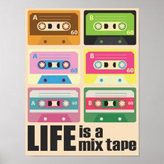 Mischungs-Band-Kassetten-Plakat