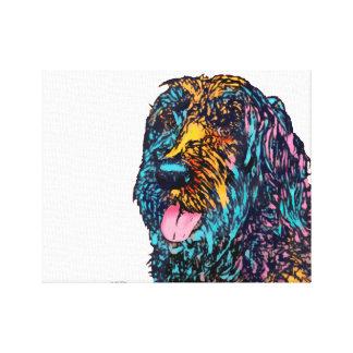 Mischzucht-Hund Gespannte Galeriedrucke