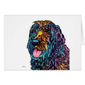 Mischzucht-Hund Grußkarte