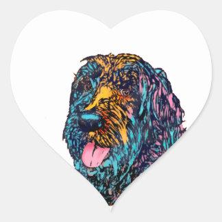 Mischzucht-Hund Herz-Aufkleber
