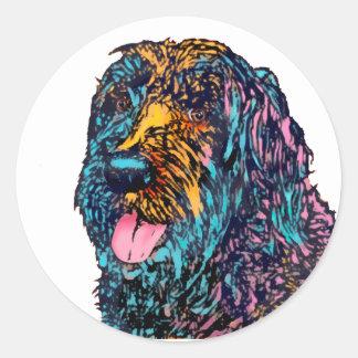 Mischzucht-Hund Runder Aufkleber