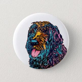 Mischzucht-Hund Runder Button 5,7 Cm