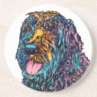 Mischzucht-Hund Sandstein Untersetzer