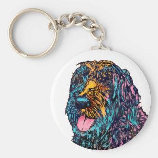 Mischzucht-Hund Standard Runder Schlüsselanhänger