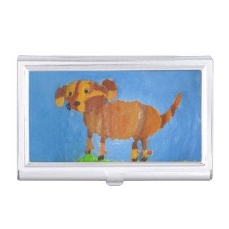 Mishka Hund Visitenkarten Dose
