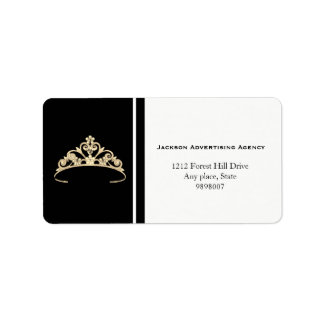 Miss Amerika-GoldTiara-Kronen-Adressen-Etiketten Adressaufkleber