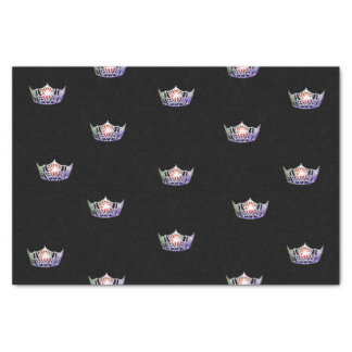 Miss Amerika-Lavendel-Silber-Kronen-Seidenpapier Seidenpapier