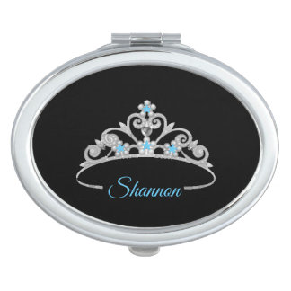 Miss Amerika-Rodeo-Silber-Tiara-Vertrag Schminkspiegel