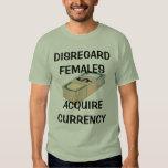 Missachtungs-Frauen, erwerben Währung T Shirts