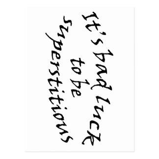 Missgeschick-Aberglaube Postkarte