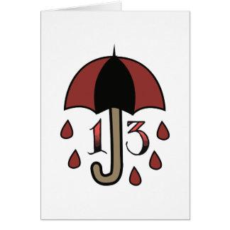 Missgeschick-Regenschirm Karte