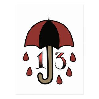 Missgeschick-Regenschirm Postkarte