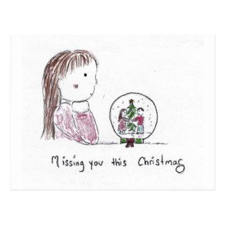 Missing_you_this_Christmas Postkarte