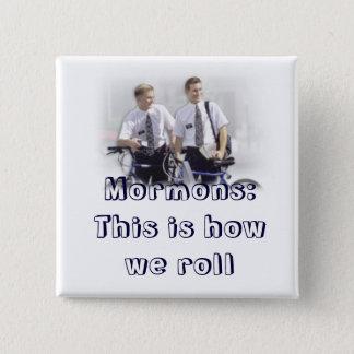 Missionar, Mormonen Quadratischer Button 5,1 Cm
