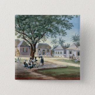MissionsGebäude, St Johns, Antigua (w/c und Quadratischer Button 5,1 Cm