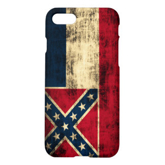 Mississippi-Flaggen-Schmutz iPhone 8/7 Hülle