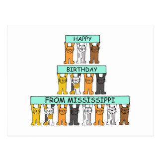 Mississippi-Geburtstags-Katzen Postkarten