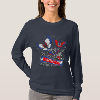 Mississippi-Patriotismus-Schmetterling T-Shirt
