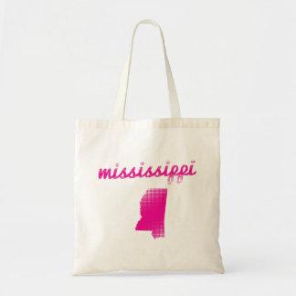 Mississippi-Staat im Rosa Tragetasche
