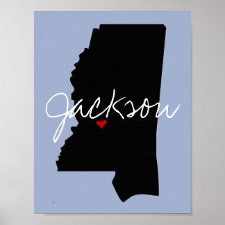 Mississippi-Stadt Poster