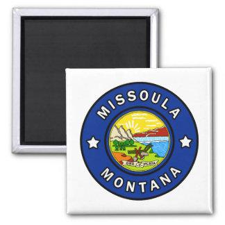 Missoula Montana Quadratischer Magnet